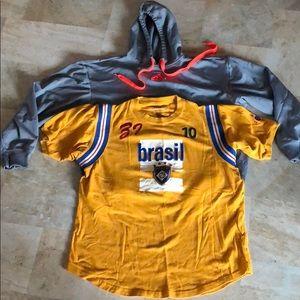 Men's Lot Hoodie & Soccer Jersey Inspired T-Shirt